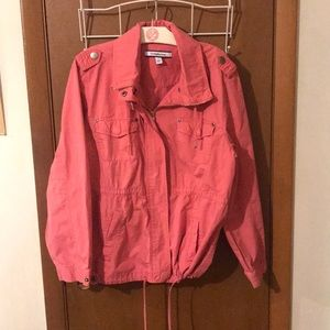 Like New Light Pink Zip Up Utility Jacket